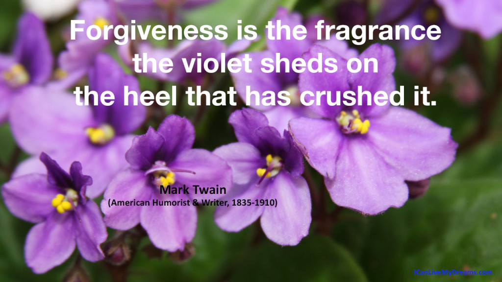 Forgiveness is the fragrance